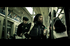 Don't Close the Door! (James Yeung) Tags: nyc newyork movie subway candid cinematic tone
