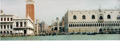 italy 2002 panorama 4 - venice (lilbuttz) Tags: venice italy panorama docks ships courtney accent gondolas venetianlion foothillsemesterabroadspring2002 accentflorencespring2002