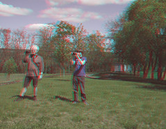 Photographers on hill (katyfernleigh) Tags: 3d anaglyph stereo spm twincamera ixus70 sdmsync