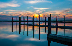 Rx: Blue hour (91 second dosage) (wowography.com) Tags: longexposure sunset red orange color reflection beach nature water silhouette clouds marina harbor yahoo suffolk dock nikon day piers tripod floating longisland explore bluehour babylon 2012 lightroom hss greatsouthbay 18200mm d90 wowography nd110 83527 longislandphoto projectweather mygearandme mygearandmepremium wowographycom pwpartlycloudy