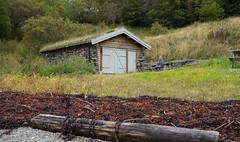 The boathouse in Pevika (harald.bohn) Tags: pevika rissa stjrnfjorden fjord vik naust steinnaust srtrndelag norge norway trondheimsfjorden fjre