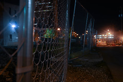 stoale_p2_s2 (samanthatoalephotography) Tags: fence night photography urban light blue construction