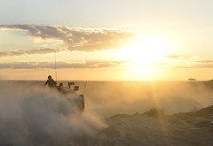 Sunrise training (explored) (Ran Z) Tags: ranzisovitch merkava tank main battle sunrise dust israel idf     desert zeelim