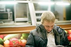 shopping4 (Mikhail Sirotinin) Tags: november autumn boy man male guy fall film smile youth 35mm subway restaurant cafe student asahi pentax russia iso400 young teen siberia indie teenager fujifilm spotmatic russian 2010 egor asahipentax krasnoyarsk sp1000 savin zenitarm