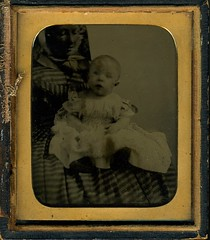 Possible Post Mortem Photography... (akki14) Tags: old vintage handpainted ambrotype postmortemphotography