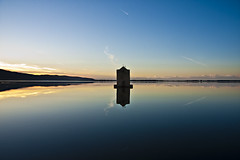 Mulino1 (giadina's Photo) Tags: pink sunset red sea reflection nature water yellow clouds relax mirror blu violet tuscany vacancy mulino orbetello spagnolo