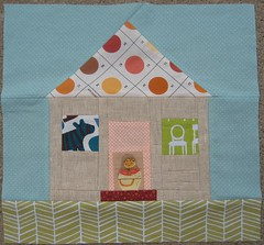 Sew & Bee Happy - November (Soft Funny Fat) Tags: quiltblock eyespy wonkyhouse