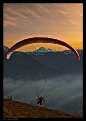 Lift-Off (AlpineEdge) Tags: sunset outdoors dusk hiking smoke valley thurston paragliding paraglider mtbaker chilliwack elkmountain beforethesnow missingthemountains mylasthikeinawhile