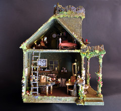 Fairy House with Fairy Furniture (Torisaur) Tags: fairytale waldorf fairy faery hobbit dollhouse dollshouse fairyhouse fairytalehouse fantasyhouse