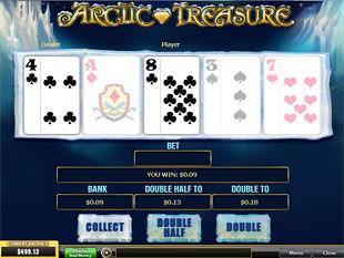 free Arctic Treasure gamble bonus feature