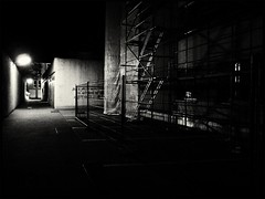 Lonesome Alley (Yves Roy) Tags: street nightphotography blackandwhite bw night dark blackwhite europe raw streetphotography eu gr bandw ricoh yr darknight darknights fav10 therogue blackwhitephotos grdiii ricohgriii ricohgr3 ricohgrdiii yvesroy darkstreetphotography