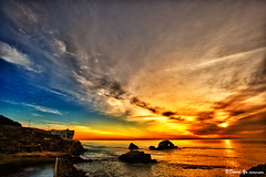 San Francisco Sutro Bath Sunset Color (davidyuweb) Tags: sunset cliff house color bath san francisco sutro sfbay sfist cliffhouse sanfranciscocliffhouse