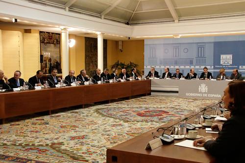 Reunion del Gobierno y  empresarios