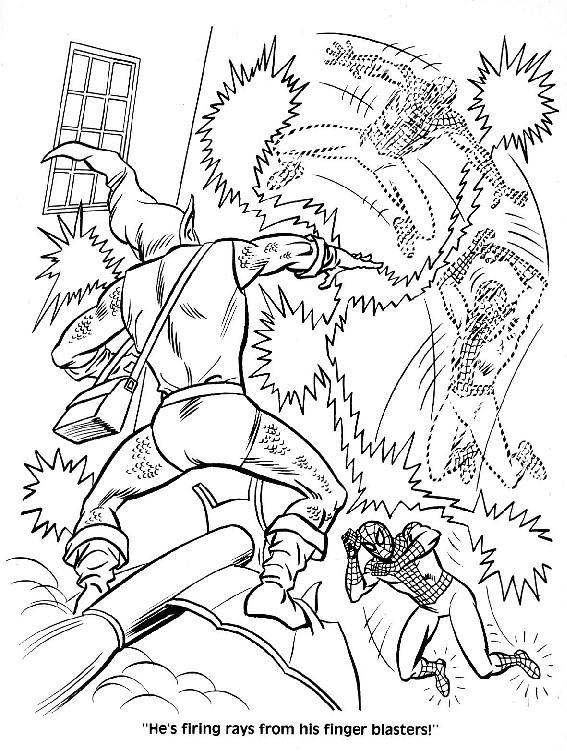 Spider-Man Unmasked! Coloring Book044