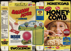 Post - Honeycomb - Balloon Flyer - cereal box - 1979