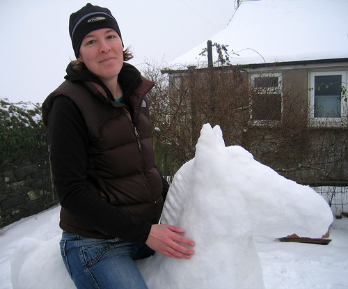 Me on the snow horse from the side