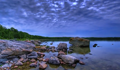 Away to Awenda (Ultimate Spinach) Tags: ontario canada clouds bay rocks stones canon20d georgianbay shoreline greatlakes awenda awendaprovincialpark the4elements flickrcolour platinumphoto wowiekazowie