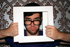 Qurette (Cayo C.) Tags: wallpaper portrait male glasses framed young frame