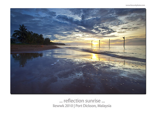 ... reflective sunrise from Port Dickson ...