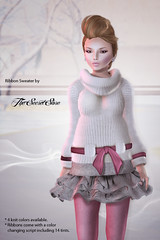 New release - Ribbon Sweater (Maylee_Oh) Tags: life fashion pull store 3d sweater clothing strawberry secret avatar clothes second ribbon mode couture haute fishy bodyline