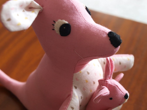 a pink kangaroo