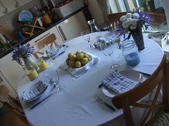 Dinner party table decoration (Elin B) Tags: flower lemon candle dinnerparty centrepiece tabledecoration