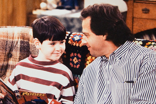 Gary Spatz with Michael Fishman on the set of Roseanne