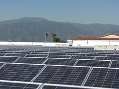 Solar on Covina Walmart (Walmart Corporate) Tags: california green retail solar energy power walmart business panels wal solarpanels mart 2010 covina renewableenergy solarpower thinfilm greendesign greenbusiness greenretail