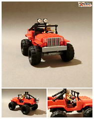 Rock Crawler Jeep (ZetoVince) Tags: red car rock greek lego jeep offroad 4x4 vince vehicle instructions minifig crawler blackrims zeto 6wide zetovince dreamdealer