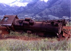 Tanzania 1969. Morogoro train derailment. (ronmcbride66) Tags: mountains train tanzania tracks ear rails backdrop locomotive steamengine derailed derailment morogoro coth eastafricanrailways offtherails dragondaggerphoto