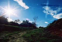 (Cru Jones+) Tags: blue sky green film grass clouds lens kodak meadow tire olympus flare dust oaks portra sherman