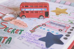A piece of London (Honey Pie!) Tags: uk bus london keyring unitedkingdom diary journal british nibus chaveiro redbus drawning