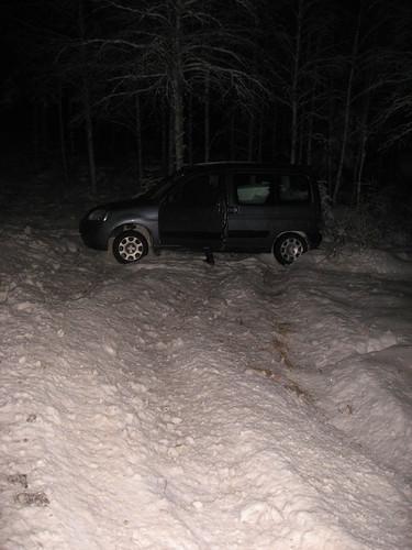 La voiture après le dérapage