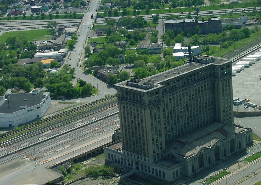 Michigan Central Train Station Arial photo
