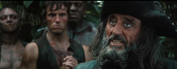 blackbeard on Pirates of the Caribbean: On Stranger Tides