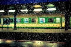 Evening train station / Вечерний вокзал (Boris Kukushkin) Tags: travel water glass rain station train evening drops twilight poland вода польша стекло дождь вечер поезд станция сумерки путешествие капли