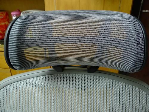 Aeron chair [美灰版] 加購黑色網式頭枕