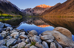 Alpenglow at Convict Lake (James Neeley) Tags: california mountains reflection sunrise landscape nikon bravo alpine mountainlake hdr alpenglow easternsierra convictlake photomatix 5xp jamesneeley d3s exposurefusion