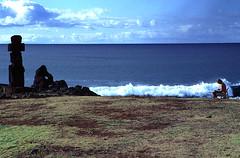 Drawing of Moais (Cascada Expediciones) Tags: chile travel moai easterisland cascada