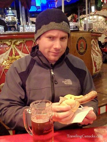 Bratwurst at Christmas Market - Berlin, Germany