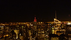 Top of the Rock, Manhattan, New York, USA, October 2010 (PaChambers) Tags: plaza new york nyc roof panorama usa ny newyork building tower up rock electric 30 skyline brooklyn night america skyscraper buildings lumix freedom evening town us newjersey downtown view state general top manhattan united north 5thavenue bank down landmark center panoramic panasonic midtown queens uptown observatory nightime views esb empire penn bankofamerica jersey northamerica manhattanskyline empirestatebuilding states elevated avenue ge 5th americas topoftherock 30rock generalelectric pennplaza avenueoftheamericas manhattanskyscrapers freedomtower internationalpaper topofrockefellercenter tz7 internationalpaperbuilding tz6
