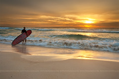 surfers paradise (Pawel Papis Photography) Tags: ocean light cloud man reflection beach water sunrise person sand surf surfer board wave australia surfersparadise