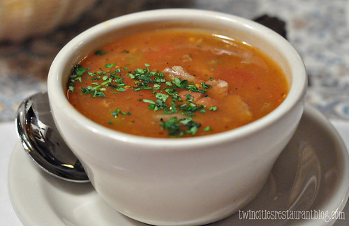 Sausage and Bean Soup at Gasthaus Bavarian Hunter ~ Stillwater, MN