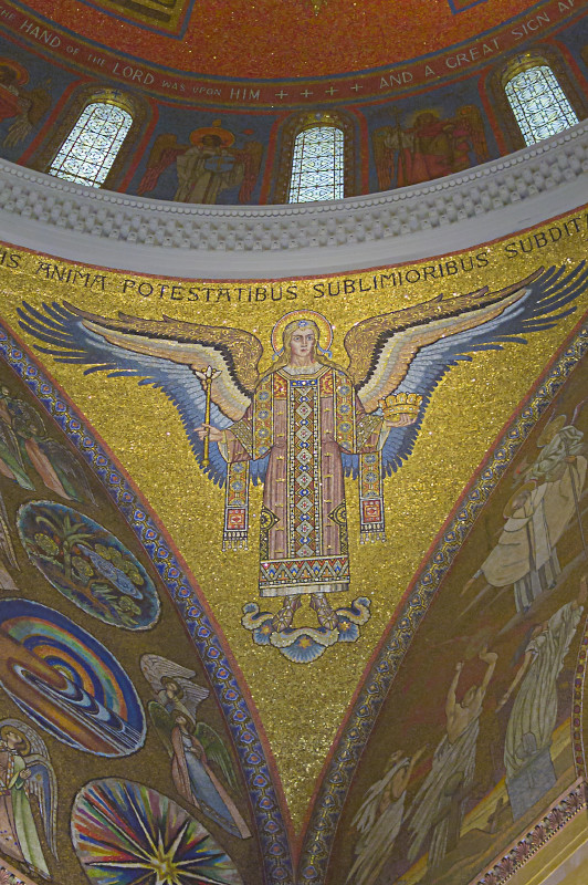 Cathedral Basilica of Saint Louis, in Saint Louis, Missouri, USA - pendentive with angel of government