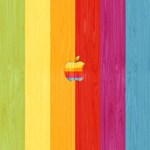 wallpaper wood grain. Apple Rainbow Wood Grain