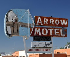 Air Conditioned (pam's pics-) Tags: newmexico sign hotel neon lodging indian chief motel nativeamerican arrow roadside nm motorinn motorlodge northernnewmexico arrowmotel espanolanewmexico pammorris labordayroadtrip divemotel nikond5000 denverpam