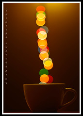 | COFFEE WITH COLORS | (srinivas.rs) Tags: christmas coffee colors lights pentax merryxmas pentaxkx f17 50mmf17 bokeheffect