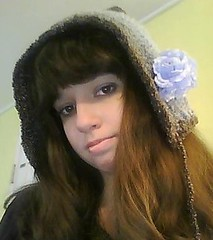 Pixie Hat (lavstarlight) Tags: blue winter brown flower hat weird cosplay unique pixie fantasy unusual geekery accessory lavenderstarlight