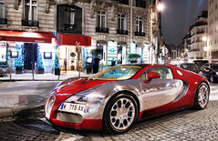 Bugatti Veyron Grand Sport (__martin__) Tags: red paris night photo nikon martin picture chrome carro 164 spotted 16 autos tamron bugatti spotting exotics supercars veyron grandsport d80