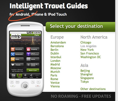mTrip launches Android travel apps